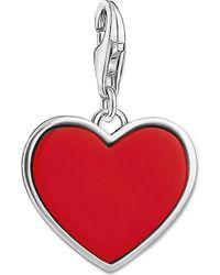 Thomas Sabo - Charm Club Engraved Heart Silver Charm Pendant - Lyst