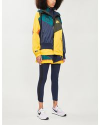 Nike Drawstring-hood Contrast-panel Shell Jacket - Multicolour
