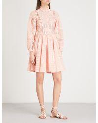 Claudie Pierlot - Embroidered Cotton Dress - Lyst