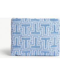 Tory Burch - Printed Towelling Cosmetics Case - Lyst
