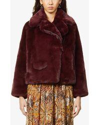 Zadig & Voltaire Freeze Faux-fur Coat - Multicolour