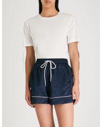 Mo&co. Studded Cotton T-shirt - White