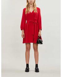 Claudie Pierlot Roseane Bow-detail Crepe Mini Dress - Red