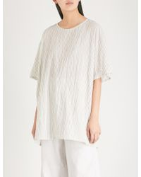 Toogood - The Painter Striped Cotton Top - Lyst