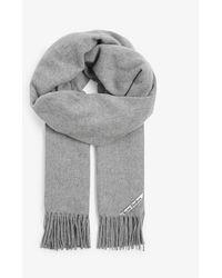 Acne Studios Canada Tasselled Wool Scarf - Grey