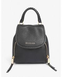 MICHAEL Michael Kors Viv Leather Backpack - Black