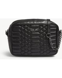 Zadig & Voltaire - Noir Black Boxy Quilted Leather Cross Body Bag - Lyst