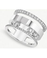 Messika - Move Romane Large 18ct White-gold And Diamond Ring - Lyst