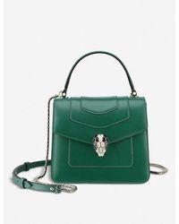 BVLGARI Serpenti Forever Leather Shoulder Bag - Green