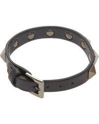 Valentino Women's Black Rockstud Bracelet