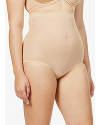 Wolford High-rise Tulle Control Briefs - Black