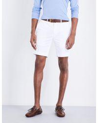 Ralph Lauren Purple Label - Knightsbridge Straight-fit Stretch-cotton Shorts - Lyst