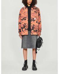 McQ Camouflage-print Cotton Jacket - Orange