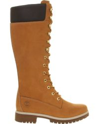 Timberland - 14 Inch Premium Nubuck Leather Boots - Lyst