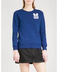 Mini Cream - Logo-flocked Cotton-blend Sweatshirt - Lyst