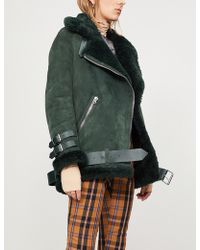 Acne Studios - Velocite Shearling-trimmed Suede Jacket - Lyst