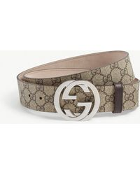 c2887833621 Gucci Reversible GG Supreme Buckle Belt for Men - Lyst