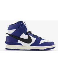 Nike Dunk X Ambush Leather High-top Trainers - Blue