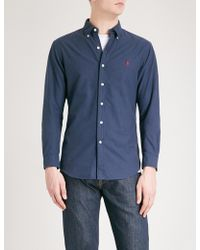 Polo Ralph Lauren - Logo-embroidered Slim-fit Cotton Oxford Shirt - Lyst