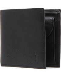 Polo Ralph Lauren | Pony-embossed Pebbled Leather Coin Wallet | Lyst