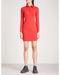Criminal Damage - Hater Striped Stretch-cotton Dress - Lyst