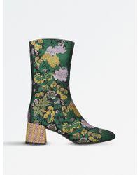 Erdem Brocade Mid-calf Boots - Green
