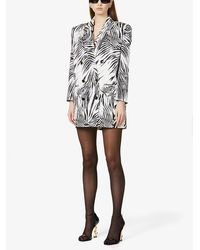 Magda Butrym - Zebra-print Silk Mini Dress - Lyst