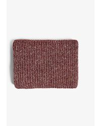 Ted Baker Logo-embossed Woven Scarf - Red