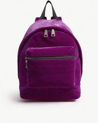 Sandro Velvet Backpack - Purple