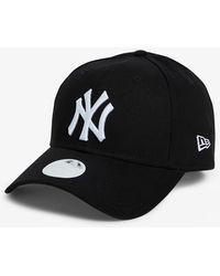 KTZ 9forty New York Yankees Cotton Baseball Cap - Black