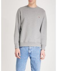 PS by Paul Smith - Zebra-embroidered Cotton-jersey Sweatshirt - Lyst