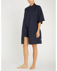 Tommy Hilfiger - Striped Cotton Dressing Gown - Lyst
