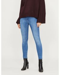 Ted Baker Aaciee Raw-hem Skinny Mid-rise Jeans - Blue