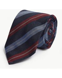 Eton of Sweden - Diagonal Stripe Silk-blend Tie - Lyst