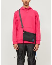 adidas Logo-embroidered Cotton-blend Jersey Hoody - Pink