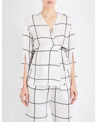 Aimee Kestenberg | Grid-pattern Silk Pyjama Jacket | Lyst