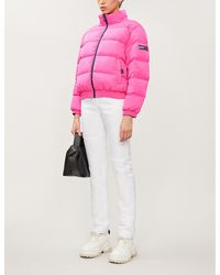 Tommy Hilfiger Reversible Funnel-neck Shell-down Jacket - Pink