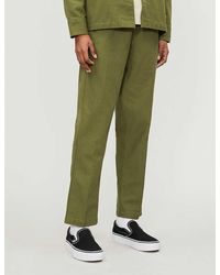 Obey Traveler Mid-rise Organic Cotton jogging Bottoms - Green