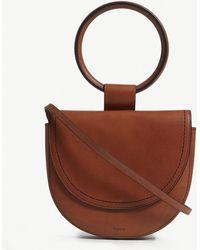 Theory - Leather Whitney Saddle Bag - Lyst