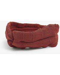 Hunza G Nile Crinkled Nylon Headband - Brown