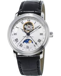 Frederique Constant - Fc335mc4p6 Classics Moonphase Heartbeat Gold-plated Stainless Steel And Crococalf-leather Strap - Lyst