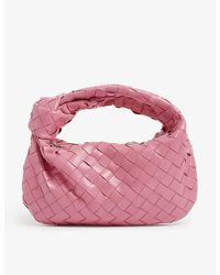 Bottega Veneta Jodie Knot Mini Leather Hobo Bag - Pink