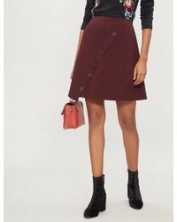 Sandro - Asymmetric Button-down Knitted Skirt - Lyst