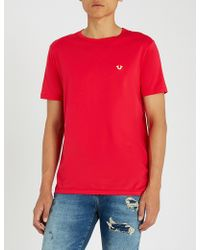True Religion - Logo-plaque Cotton-jersey T-shirt - Lyst
