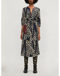 Ba&sh Orson Crepe Midi Dress - Multicolour