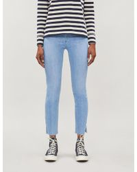 PAIGE Margot Slim-fit High-rise Jeans - Blue