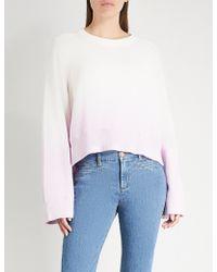 Zadig & Voltaire - Lea Dip-dye Cotton-jersey Sweatshirt - Lyst