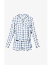 Rails Kellen Checked Woven Pyjama Set - Blue