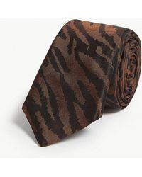 Tiger Of Sweden - Tiger Striped Silk Tie - Lyst