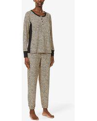 DKNY Animal-print Pyjama Set - Multicolour